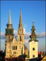 Zagreb - Gothic Cathedral by amala-lp