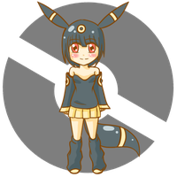 Gijinka Umbreon adopt 60 points by kirin-48