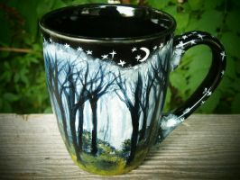 Misty Forest - Mug by InkyDreamz