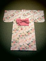 White and Pink Yukata with Pink Tsuke Obi by MorichansGarden
