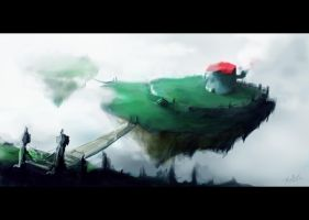 Concept Art Doodle 'Floating Islands' by SkipThatBeat