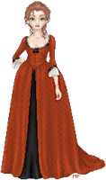 Marie: 18th Century Red Gown by waxesnostalgic