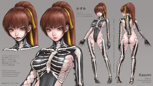 Kasumi Skeleton Costume DEAD OR ALIVE 5 Halloween2 by oldenorgel