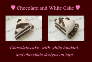 Chocolate and White Cake Charm by me0w-kittyy