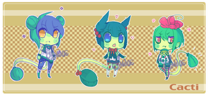 Cacti Adoptables [1] by WoeAdopts