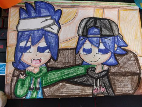 Ruto and Poto in their casually clothes (Pop'n) by Daniela56438