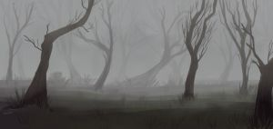 foggy forest by RinkaManoha