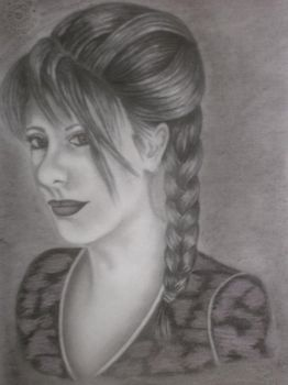 Me - Pencil portrait by AngelE85
