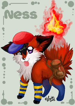 Ness as a fox by Pharaonenfuchs