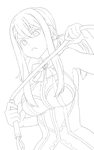[Contest Prize] Lucy Heartfilia Lineart by RobotCatArt