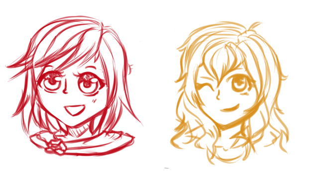 Team RwbY (Well half of it) by FallenRichardBrook