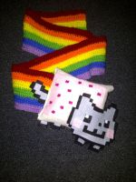Nyan Cat Scarf v2.0 by Demon-of-Laplace