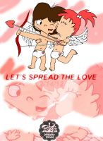 """""""Valentine's Day"""" Cupids in Love by Solo-W"""