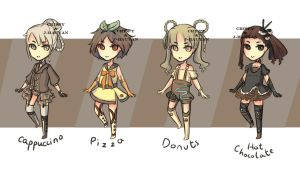 Food Adoptables collab Auction [OPEN] by j-hauyan