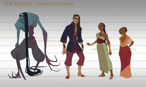 The Haunt project - Character Lineup by LiberLibelula
