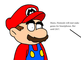 Mario's reaction to Smartphone games by SuperMarcosLucky96