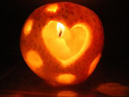 Circular Love, Apple Carving by Mousenibbles