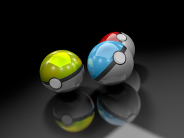 Pokeballs by DarkPlus