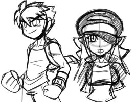 Rough character doodles by rongs1234