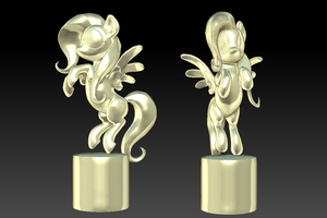 Fluttershy ZBrush Sculpt by GiantMosquito