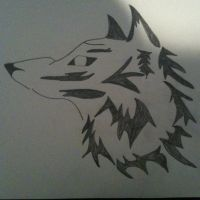 Wolf Drawing by Pureflames7