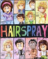 HAIRSPRAY Poster cartoon by DarthxErik
