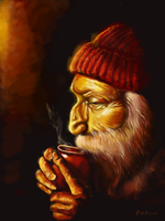Old Man and Tea Ipad version by Rommeu
