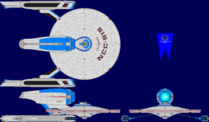 USS Ranger TMP Multi-View by captshade