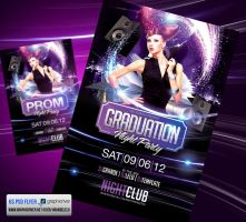 Graduation or Prom Night Party Flyer by Grandelelo