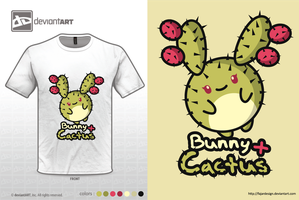 Bunny + Cactus by fajardesign