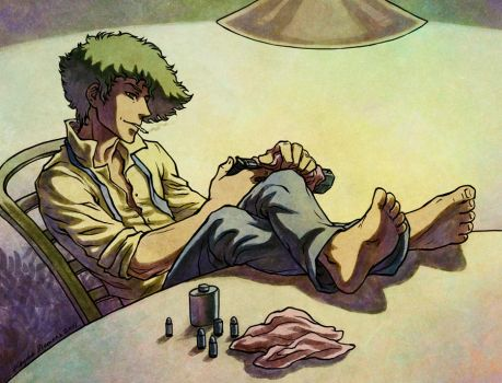 Spike Spiegel - colored version by Eldanis