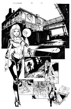 Witchblade 134 Page 17 Inks by Patrick-Hennings