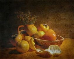 Still life in orange by kopalov