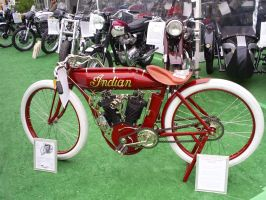 rare antique Indian motorcycle by Partywave