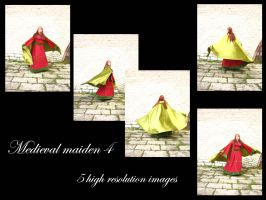Medieval maiden 4 stock pack by Mithgariel-stock