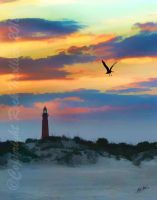 Ponce Inlet Light at Sunset by SteelCowboy