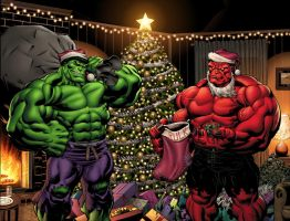 Hulk Christmas colors by EdMcGuinness