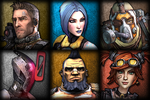 The Vault Hunters of Borderlands 2 by Glench