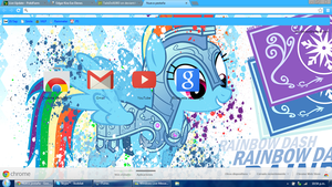 Rainbow Dash Google Chrome theme by LiatLNS