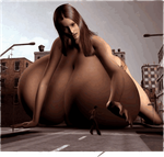 Well endowed giantess by anakinguy