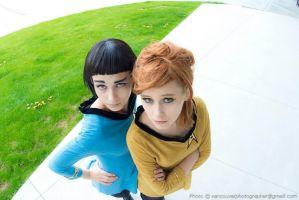 Classic Kirk and Spock by Emmaliene