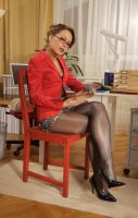 horny secretary by sieniu1