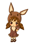 Kawaii Eevee by JipsieChan