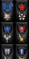 101st Gaming Clan Medal Set by ImmoRtalMedia