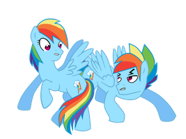 Rainbow Dash and Rainbow Blitz by passeronero
