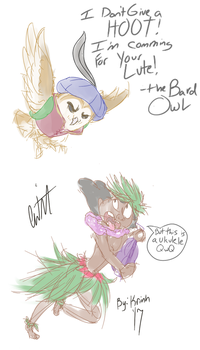 bard owl don't give a HOOT he commin for your LUTE by krinhmcfluff