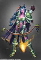 Night Elf Huntress by Arsenal21