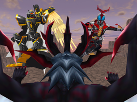 MMD - Alphamon and ZM VS The Corrupted 01 by Zeltrax987