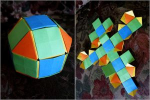 Colored Rombicuboctohedron by iDoux