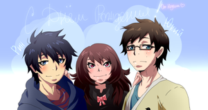 HAPPY B-DAY RIN AND YUKIO by mananeez